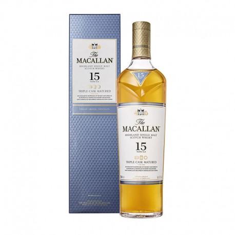 Macallan 15 años triple cask single malt