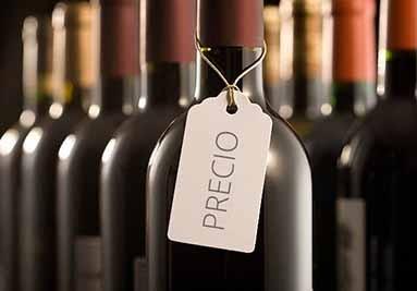 Precio de un vino